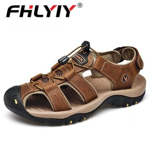 Fhlyiy Brand 2020 New Male Shoes Genuine Leather Men Sandals Summer Men Shoes Beach Sandals Man Fashion Outdoor Casual Sneakers CX200710