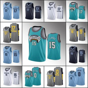 HombresMemphisGrizzlies Jersey Baloncesto Jonas Valanciunas Brandon Clarke De'Anthony MeltonNBA 2019-20 jerseys