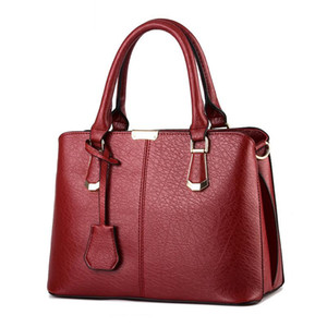 Hot Sale Fashion Women Leather Handbag Inclined Female Bow-knot Shoulder Bags Handbags Lady Shopping Tote Messenger Bag WineRed