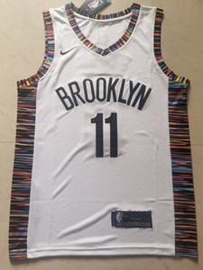 Hot Sale Men's Brooklyn top #11 Kyrie Irving 2019-20 White Stitched Jersey - Suture