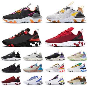 nike react vision epic react element 87 55 Erkek Kadın Koşu Ayakkabı beyaz siyah Yelken Kraliyet Tonu Çöl Kum tasarımcı nefes spor sneaker boyutu 36-45