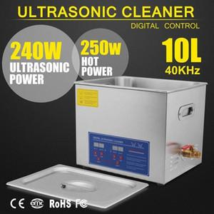 Limpiador ultrasónico calentador de tanque temporizador digital 10L de ultrasonidos Baño uU2S #