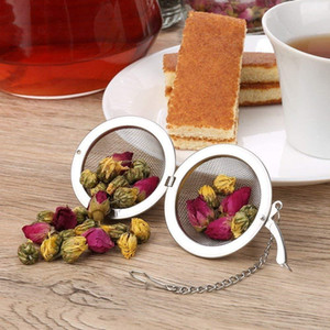 Stainless Steel Tea Pot Infuser Sphere Locking Spice Tea Bola peneira de malha Infuser chá filtro Filtro infusor DHB1040