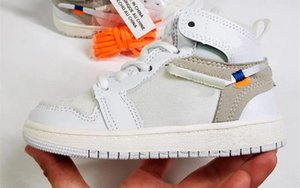 New PreSchool Jointly Signed High OG 1s Youth Kids Basketball Shoes Chicago New Born Baby Kids Toddler Trainers Small Big Boys Gir