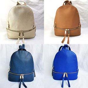 Genuine Leather Ladies Circle Ring Chain Cross-Body Backpack Nubuck Er Leather Women Solid Color Brand Designer Knapsack J190525#405