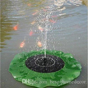 Solar Water Pump Floating Waterpomp Panel Kit Fountain Pool Pump Lotus Leaf Floating Pond Watering Submersible Garden Water Pump DBC BH2916