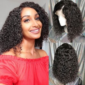 kinky curly wig Brazilian Remy Hair For Women Pre-Plucked Deep Wave Wigs