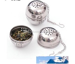 Stainless Steel Egg Shaped Egg-shaped Tea Balls Teakettles Infuser Strainer Locking Spice Ball 4cm 200pcs lot
