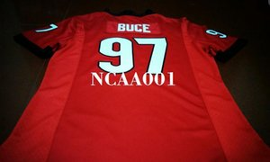 Men #97 Brooks Buce Georgia Bulldogs red black white College Jersey or custom any name or number jersey