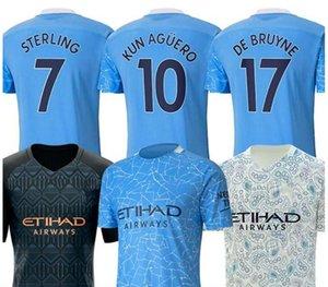 20 21 مدينة جيرسي لكرة القدم 2020 2021 رجل قميص STERLING كرة القدم مانشستر KUN AGUERO DE BRUYNE GESUS BERNARDO MAHREZ RODRIGO