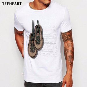 2020 Male Best Selling Cool Hipster Old Shoes Hanging on The Wall Funny Joke Men T Shirt Tee Summer Tee Shirt