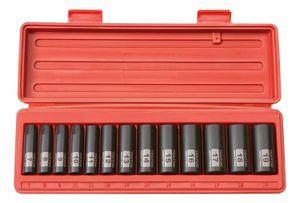 47925 3/8 pollici Unità Deep Impact Socket Set, Metric, 6 punti, 7-19 mm, 13-Socket