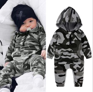 Fall 2020 kids clothes camouflage baby jumpsuit long-sleeved baby romper baby jumpsuit