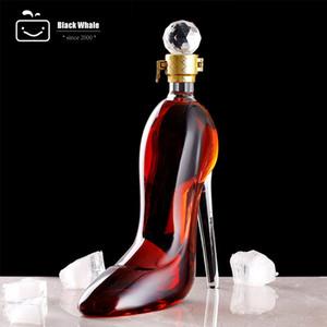 Yeni cam şişe Yüksek topuklar şeklinde cam yaratıcı ayakkabı tipi cam şarap şişesi şarap dekan şişe viski