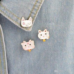 Miss Zoe Enamel pin Cute Cartoon Fortune Cat plutus cat wink kitten Paw Brooch Pins Badge Gift Jewelry for women girl kids