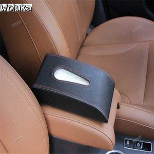 자동차 티슈 상자 좌석 - 간단한 패션 자동차 냅킨 상자 가죽 자동차 내구성 인테리어 액세서리 CD50 Q06