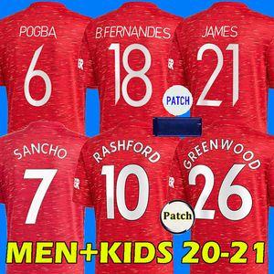20 21 maglia da calcio Manchester United BRUNO FERNANDES RASHFORD MARTIAL POGBA JAMES