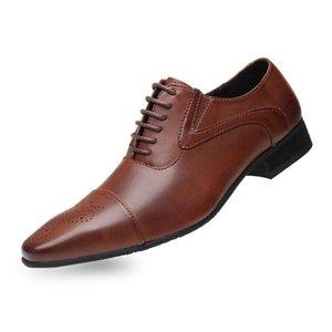 Zeguuer Marca Men Oxfords Plus-size Shoes Luxo Masculino deslizamento-em sapatas Negócios Moda Pointed Toe FootwearDress