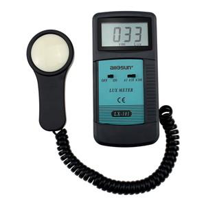 휴대용 디지털 조도계 럭스 미터 LCD 디스플레이 휴대용 Lightmeter 광도계 럭스 FC 발광 계 광도계 측정 Allsun LX101