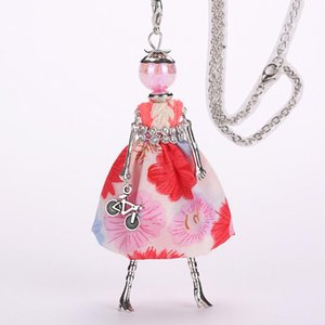 YLWHJJ new women dress cute doll long pendant necklace girl sweater chain maxi necklace princess popular lovely fashion jewelry
