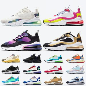 2020 Nike Air Max 270 React Eng Travis scott Cactus Trails Sneakers Watermelon Vibes Nero Bianco Donna Uomo Scarpe da ginnastica Volt Pink Tennis Sneakers