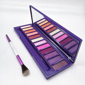 makeup palette Ultraviolet Palette with brush Beauty 12 colors eyeshadow shimmer Matte Makeup Eyeshadow hills Palette DHL