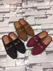 Ting2594 9819 Velvet Slippers Casual Handmade Walking Tennis Sandals Slippers Mules Slides Thongs