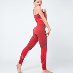 traje de celebridad de Internet pantalones sujetador de las mujeres Taoyekma en forma de I deportes trasero del sujetador de cintura alta pantalones de deporte para la conformación de yoga para las mujeres