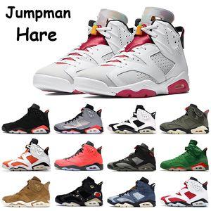 Jumpman 6 6s erkek basketbol ayakkabıları siyah Travis scotts alternatif tavşan unc yüksek kızılötesi buğday gümüş CNY erkekler eğitmenler spor ayakkabıları yansıtacak