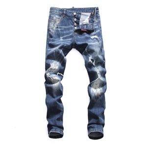 2020 Mens Distressed Ripped Biker Jeans Slim Fit Motorcycle Biker Denim For Men Fashion Balma Designer Hip Hop New Style men pants