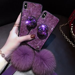 beautiful Diamond Marble Glitter Phone Cases for iPhone X XR XS MAX 7 8 6s Plus Cell Phone Cases holder Ring Silicon Cover For iPhone XR XS