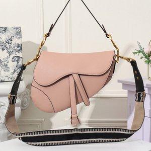 Luxo Mulheres Bolsas bolsas Saco clássico Saddle Vintage Shoulder Bag Mensageiro Parágrafo Rivet Broadband Saddle Bag 25.5x20x6.5cm
