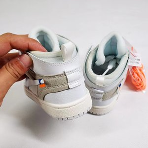 UNC High OG 1s Youth Kids Basketball Shoes University Blue New Born Baby Infant Toddler Boys Girls Sneakers