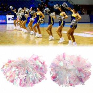 1 PC Game pompoms baratos práticos poms cheerleading pom Aplicar para esportes corresponder e concerto vocal Cor pode liberar combinação ZYaQ #