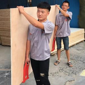Levantar la placa de panel de herramientas para tablas 80Kg ABS Panel de fibra de madera contrachapada levantador Carrier cargador con la Resbalón-prueba manija U2RX #