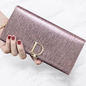 2020 새로운 패션 여성의 지갑 Bifold 긴 지갑 정품 가죽 대용량 여자의 지갑 여성 손 가방 가방