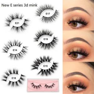 Mink Lashes 3D Mink Eyelashes 100% Cruelty Soft Lashes Handmade Reusable Natural Eyelashes Wispies False Lashes Makeup E series 21 Styles