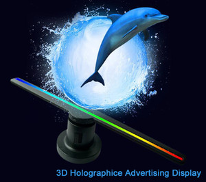 3D WIFI holographic advertising machine 42 cm fan rotating display LED projection screen 384 LED Naked Eye Projector Advertisement Player