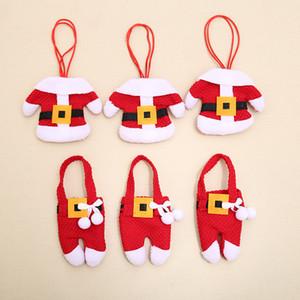 Gabel-Messer-Taschen Design-Messer und Gabel Tasche Besteck Taschen Geschirr Halter Christmas Eve Dinner Tischdekoration Weihnachtsschmuck DH0138