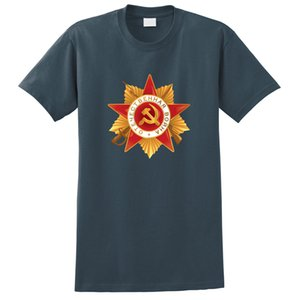 2019 Casual Marca Verão Men Funny Shirts Top ordem soviética Guerra Patriótica Imprimir T-Shirt Homme Suit