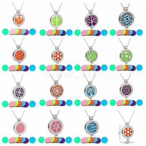 Hanging Car Perfume Hollow Pendant life tree Fragrance Diffuser Air Freshner Essential Oil luminous Necklace Decorations Accessories AAA1614