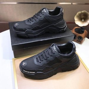 DesignersPHILIPPPLEINPPFor Men s Fashion Shoes Top Quality Vintage Lace-up Sneakers Comfortable Outdoor Walking Luxury
