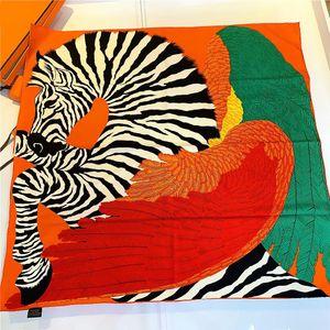 Natural Silk Horse Stampa sciarpa per le donne fatti a mano retrò Bandana 90 90 Sciarpa raso delle donne dello scialle di lusso