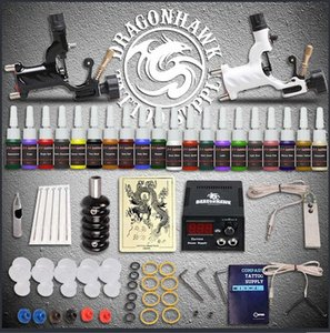 Professional Tattoo Top Kit 2 Spektra halo Rotary Machine Guns Power Supply Agulhas Grips Dicas Tattoo Kits Tatto Kits Tattoo Equipment H45x #