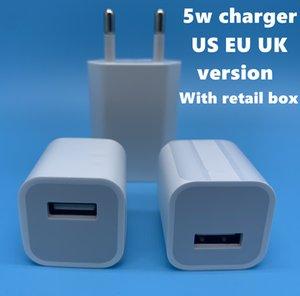 DHL100pcs OEM Original A +++ Qualität 5V 1A 5W US / EU-Stecker-Adapter USB-Ladegerät AC-Netzadapter A1385 A1400 mit Kleinkasten