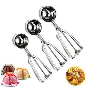 Paslanmaz Çelik Dondurma Kepçe Meyve Çerezler Yuvarlak Top Maker Kaşık Dondurma Araçları Mutfak Bar Araçları Aksesuarlar HHA1469