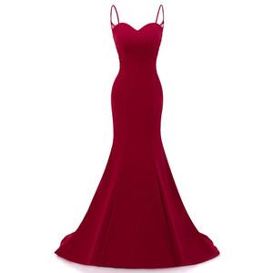 ew summer 2020 spaghetti fishtail mermaid evening dress sexy long host dress