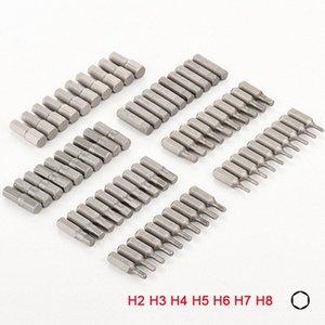 홈 손 공구강 육각 드라이버에 대한 10PCS 1/4 인치 육각 생크 H2 H3 H4 H5 H6 H7 H8 스크류 드라이버 비트 세트 P0Gf 번호를 비트