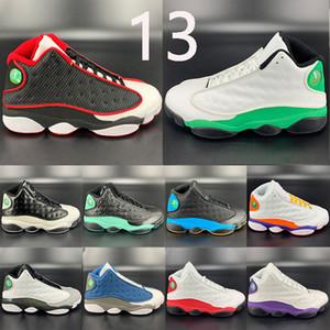 Новый 13 кремень Reverse Он доигрались 13s Jumpman баскетбольной обуви судебных фиолетовый белый черный красный CNY низкой чатни Мужские кроссовки инструкторов Boots
