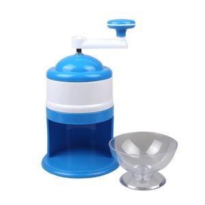 Domésticos Trituradores de gelo Shavers Portátil Azul Branco Handheld Handstyle neve manual Crushing Máquina de gelo